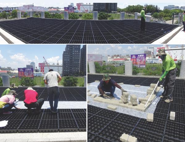保綠蓄排水板施工案例
