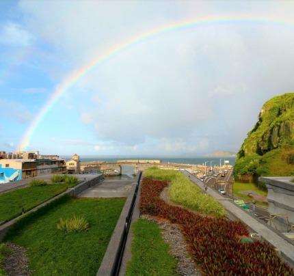 基隆海博館綠屋頂0